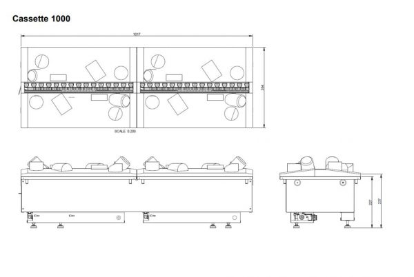 Dimplex Cassette 1000R incl. houtset